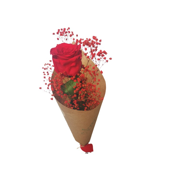 Rosa Preservada Color Lavanda