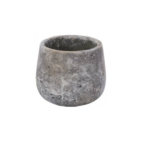 Macetero Cerámica (Vision grey round)