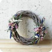 Corona  de Invierno con Flor Preservada