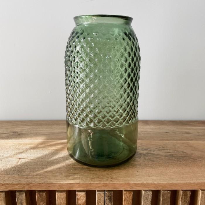 Jarrón en Vidrio Reciclado